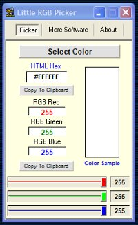 Handy little color picker.